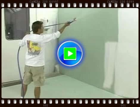 固瑞克5900现场喷涂施工视频