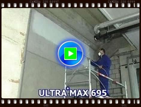 固瑞克695喷乳胶漆施工视频